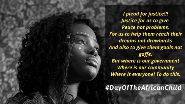 On this #DayOfTheAfricanChild Teenage Girls Plead for Justice